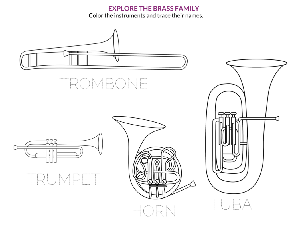 This image has an empty alt attribute; its file name is Brass-Family-Coloring_1-1024x791.png